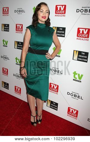LOS ANGELES - SEP 18:  Emily Lowe at the TV Industry Advocacy Awards Gala at the Sunset Tower Hotel on September 18, 2015 in West Hollywood, CA