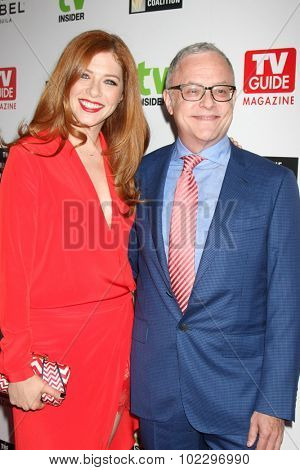 LOS ANGELES - SEP 18:  Rachelle Lefevre, Neal Baer at the TV Industry Advocacy Awards Gala at the Sunset Tower Hotel on September 18, 2015 in West Hollywood, CA