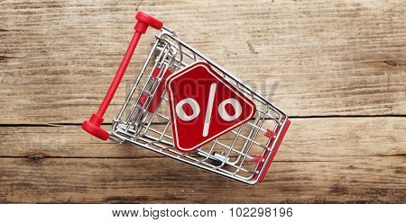 Shopping trolley Percent