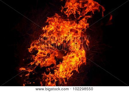 Burning Fire Flame Background