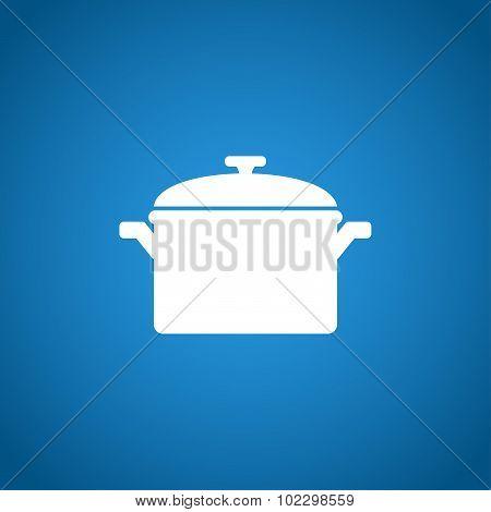 Saucepan Icon. Vector Illustration.