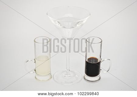 Cocktail Tears Of Snake  Isolated On The White Background