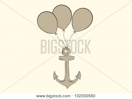 Anchor on balloons