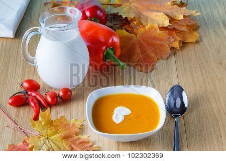 Pumpkin Soup With Fresh Pumpkin