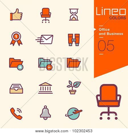 Line Colors - Office and Business icons
