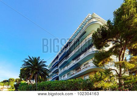 Touristic Apartments In Menton, Cote D Azur, Sunny Resort