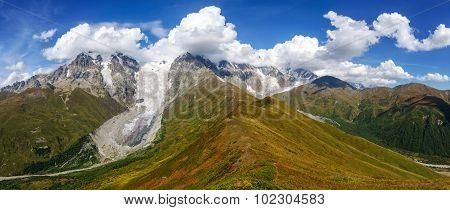 Beautiful Mountain Landscape In Georgia.