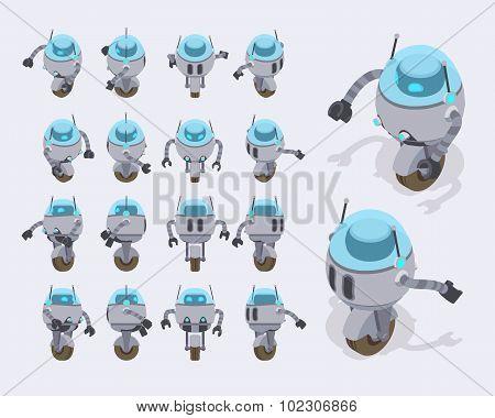 Isometric futuristic robot