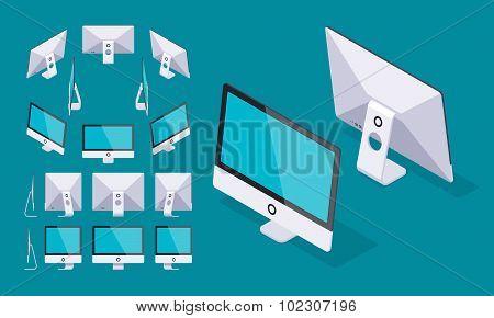 Isometric generic monoblock computer