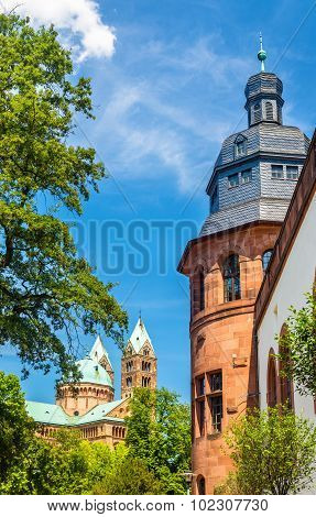 View Of The Speyer Cathedral And The Historical Museum Of The Palatinate