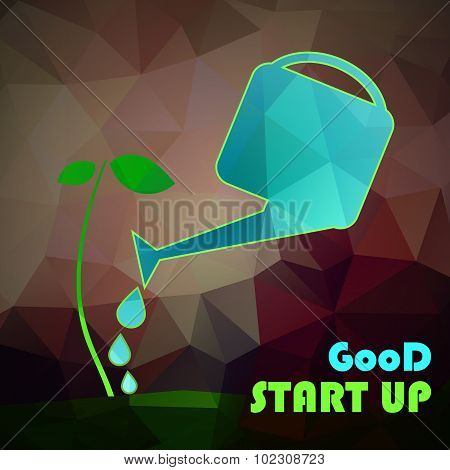 Start up - investment concept. Vecror