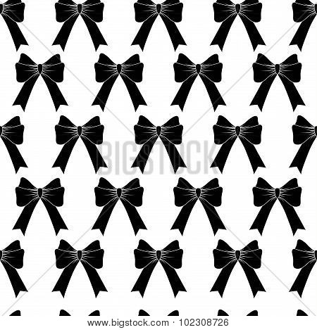 Seamless Background With Black Bows