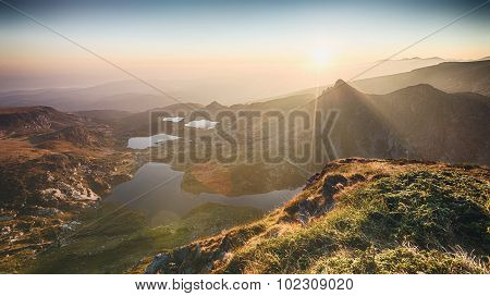 Mountain Lakes By Sunrise - Rila, Bulgaria