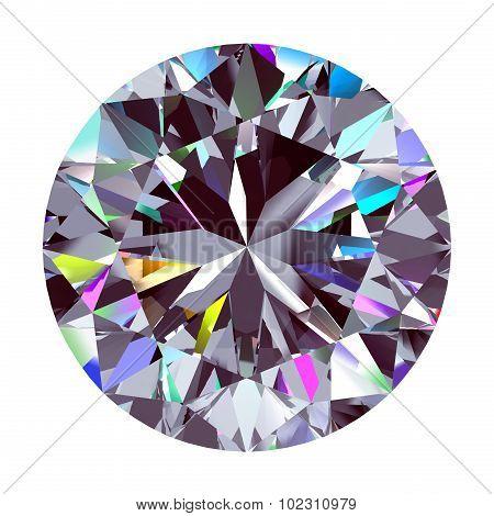 Diamond Round. 3D Model.