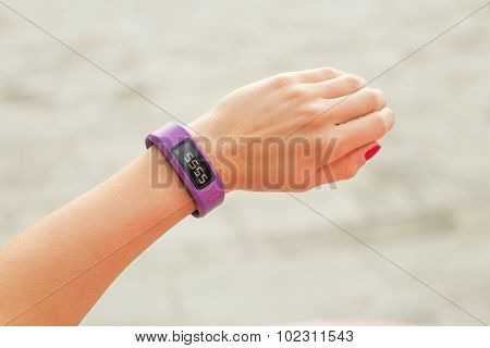 Smartwatch on hand