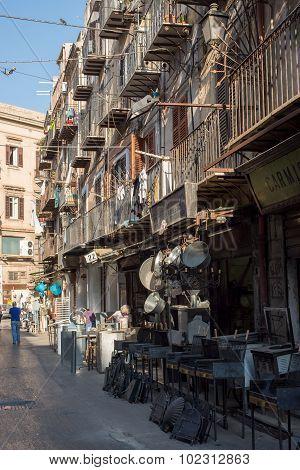 Via Calderai In Palermo. Sicily, Italy.