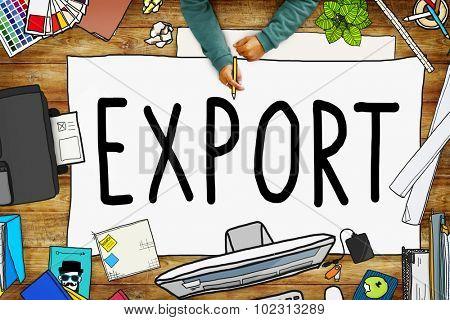 Export Import Logistics Transportation Freight Concept