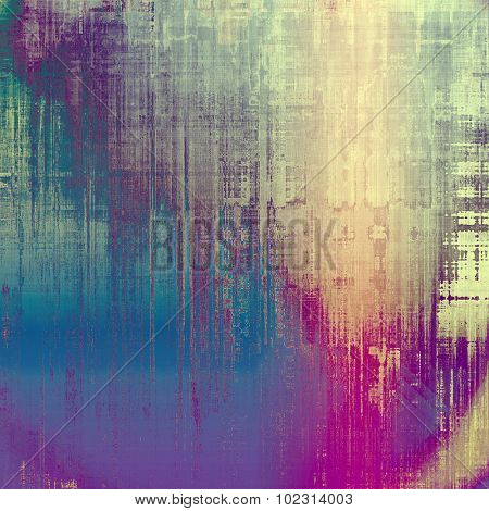 Rough grunge texture. With different color patterns: yellow (beige); blue; pink; purple (violet)