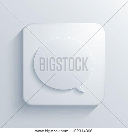 Vector modern bubble speech light icon