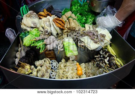 Barbecued Food In Night Market