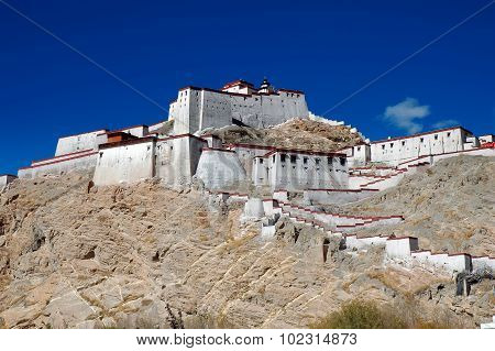 Old Tibetan Fort In Gyantse, Tibet