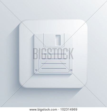 Vector modern diskette light icon