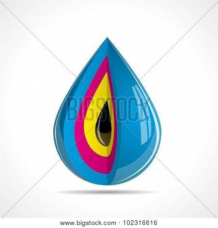 Color Ink Drop