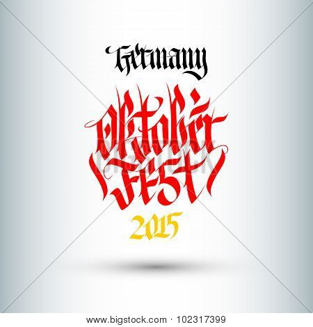 Octoberfest. Holiday Vector Illustration With Lettering Composition