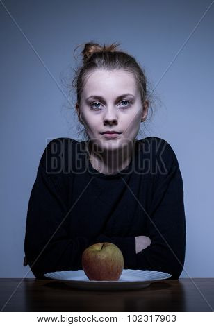 Devastated Female With Eating Disorder