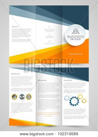 Glossy Trifold Brochure, Template or Flyer design for your Business purpose.