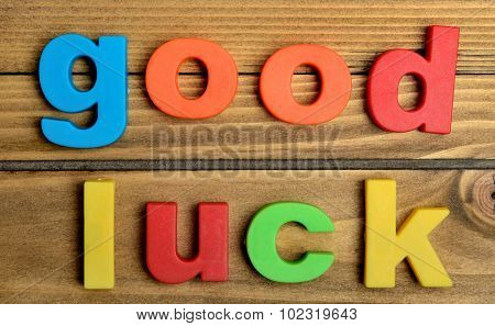 Colorful Good Luck Word