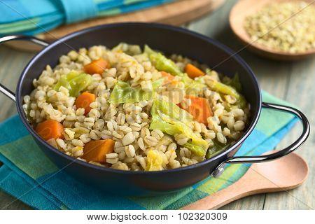 Savoy Cabbage Carrot Pumpkin Wheat Grain Stew