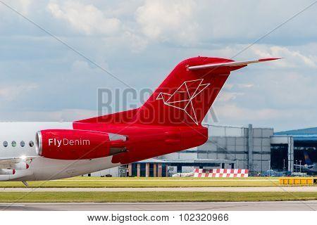 Denim Air Fokker F100 Tail