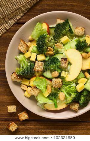 Apple Lettuce Broccoli Cucumber Cheese Salad
