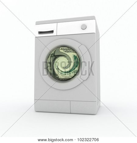 Washer. Laundering of money.