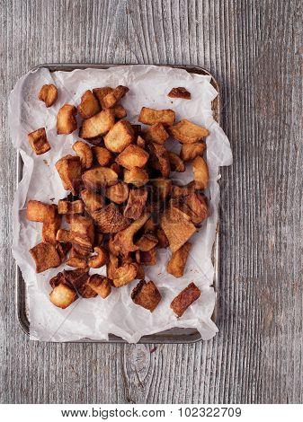 Rustic Deep Fried Crispy Pork Rind