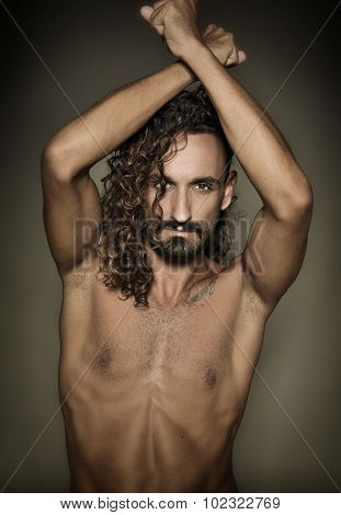 Topless model