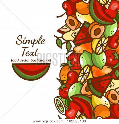 fruit vector baskground