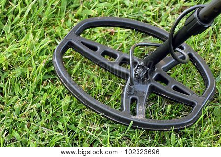metal detector on grass