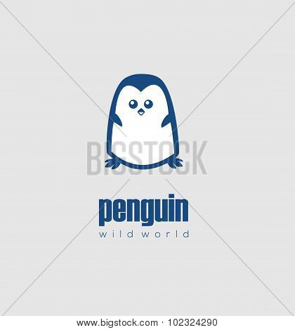 Cute White Penguin
