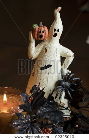 Ghost And Pumpkin