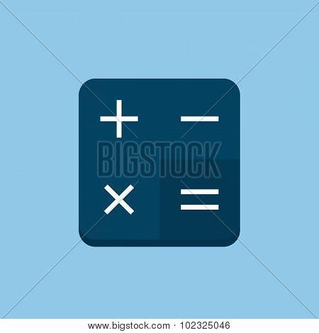 Calculator icon, modern minimal flat design style, vector illustration