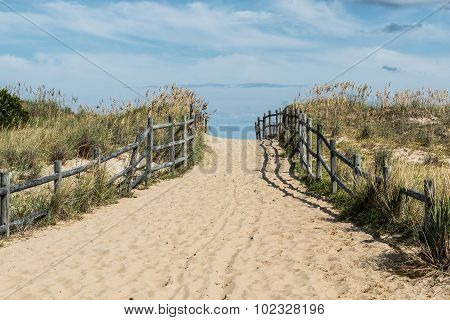 Sandbridge Sandy Beach pathway