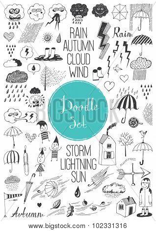Big doodle set - Autumn
