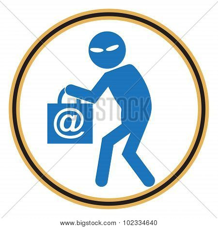 Hacker, Internet Security Concept. Thief Icon
