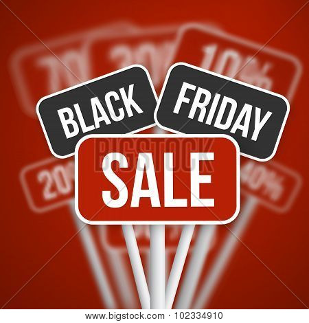 Black Friday Sale Sign with a Black Friday Discount Blurred Vect