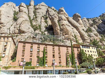 Hotel For Tourists In The Montserrat Mountain