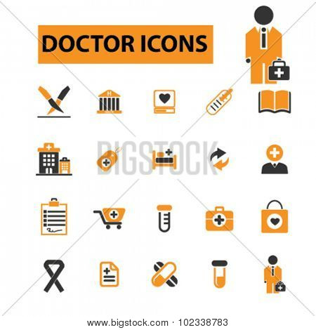 doctor, hospital icons
