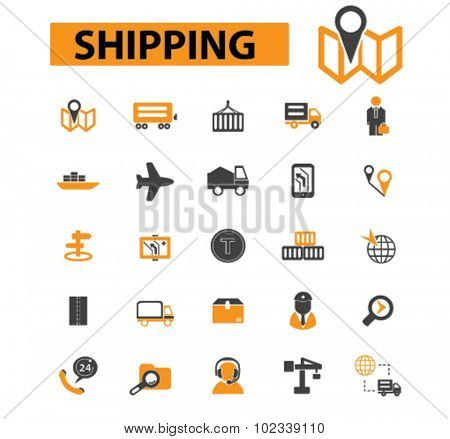 shipping, delivery icons