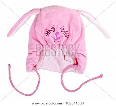 Pink Baby Warm Hat With Rabbit Snout